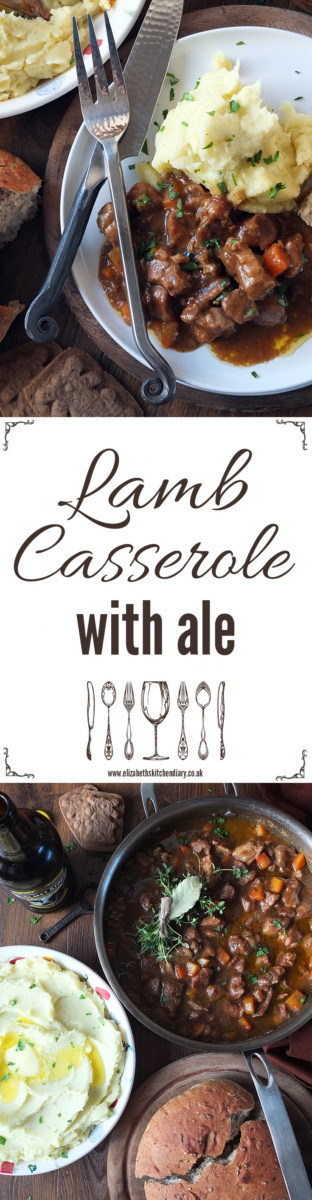 Lamb Casserole with Ale - a delicious slow cooked lamb dish flavoured with ale, mustard and spice!