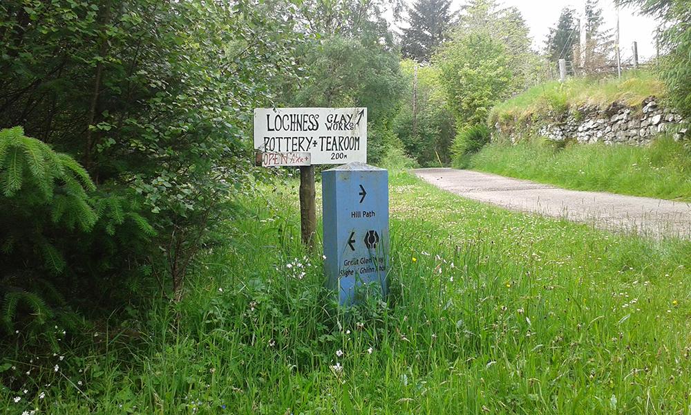 The Great Glen Way - Loch Ness Pottery