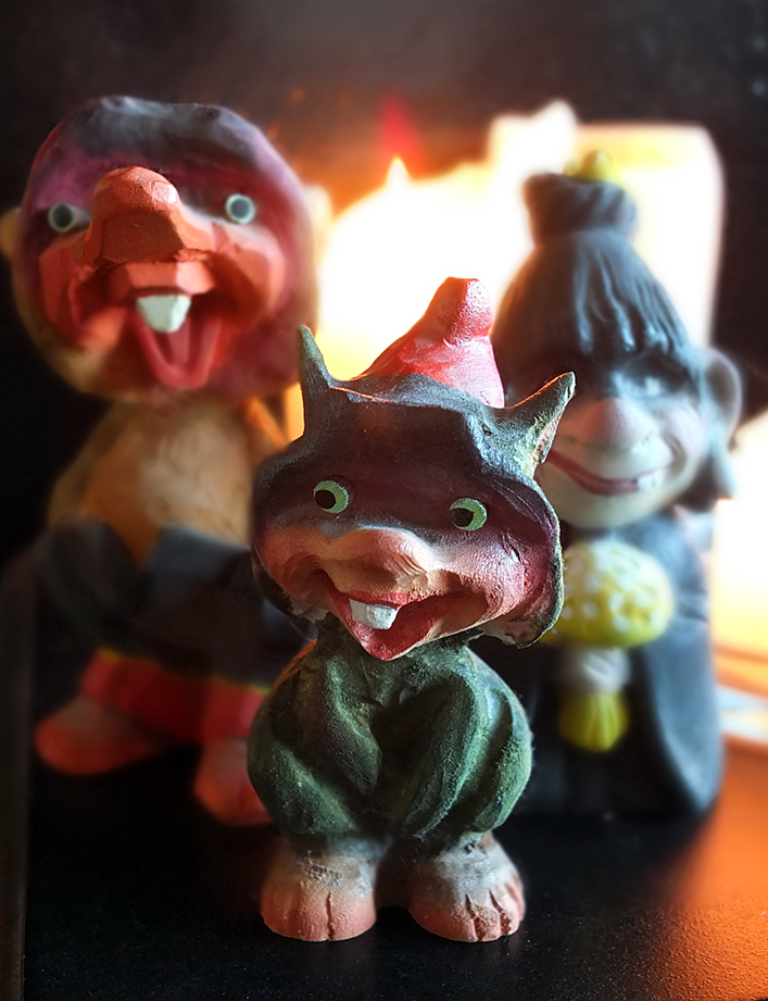 Norwegian Wooden Troll Figures