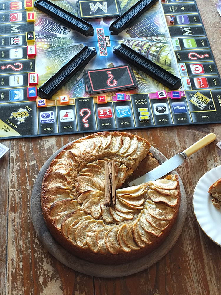 Spiced Apple Cake and Monopoly