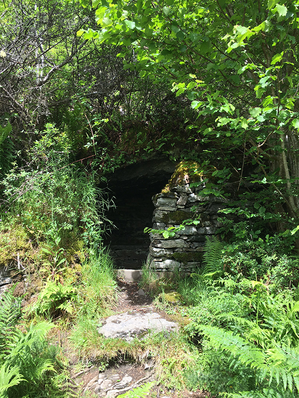 The Great Glen Way - Rock Cave Shelter