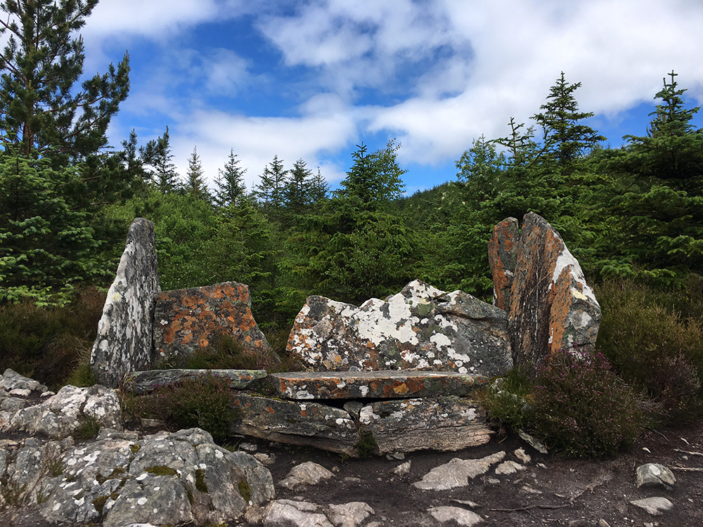 The Great Glen Way - Stone Seat