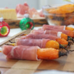 Roasted Baby Carrots with Grana Padano and Prosciutto di San Daniele