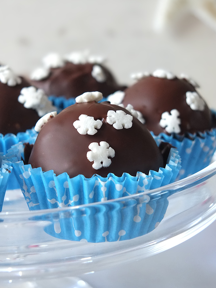 Coconut Mint Christmas Chocolates