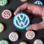 Volkswagen Logo Sugar Cookies - a step by step tutorial