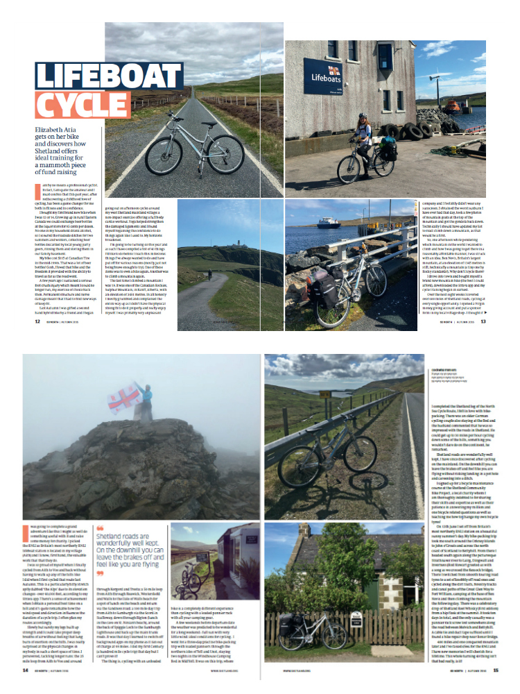 60 North Magazine - Lifeboat Cycle
