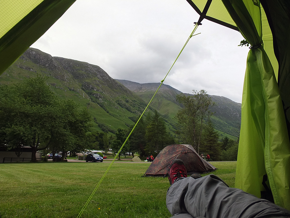 Camping at Ben Nevis, Scotland