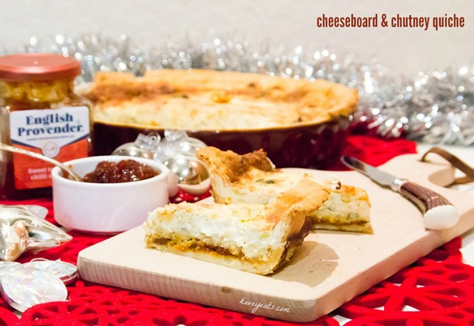 Cheeseboard and Chutney Quiche from Kavey Eats