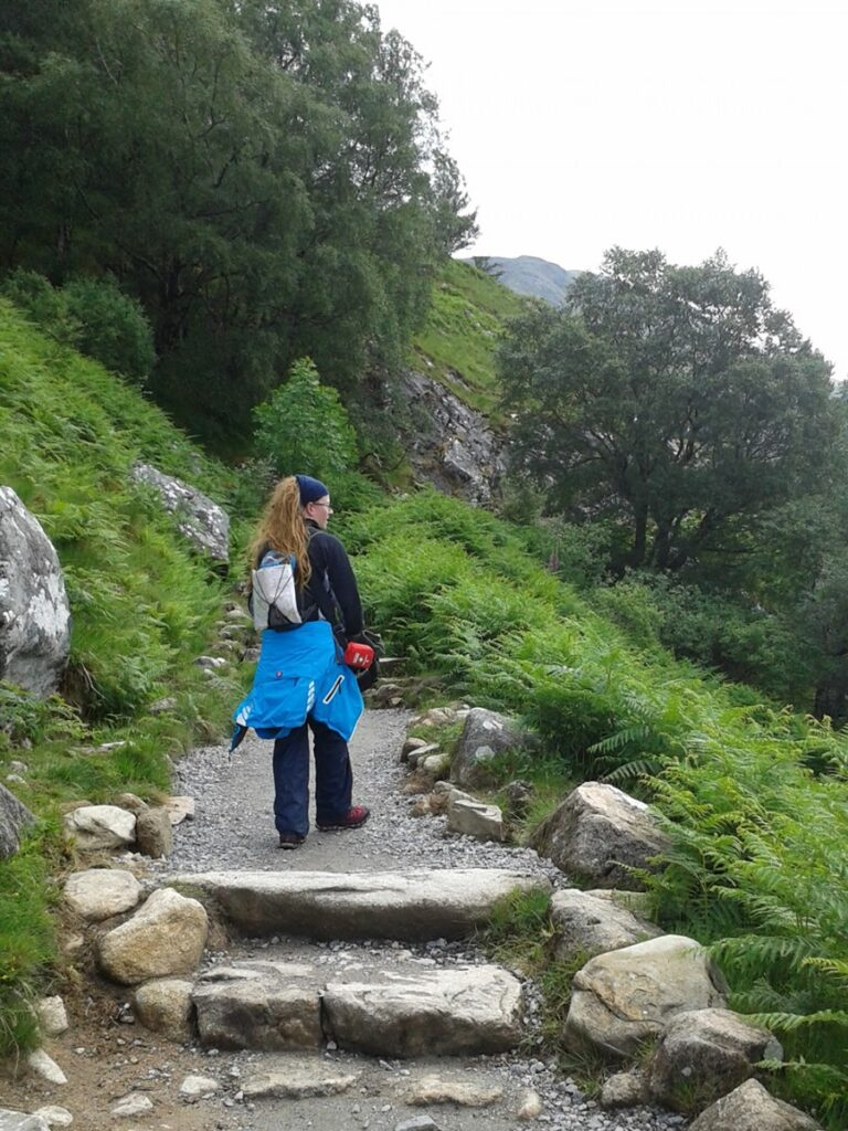 Climbing Ben Nevis via the Mountain Path