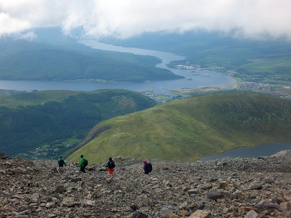 Climbing Ben Nevis via the Mountain Path