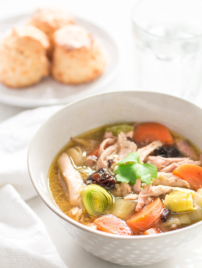 Cock-a-leekie Soup by Recipes from a Pantry
