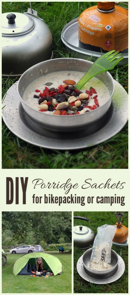 DIY Porridge Sachets for Bikepacking or Camping