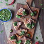 Argentine Inspired Lamb Chops with Chimichurri