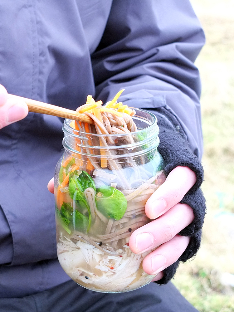Shredded Turkey with Soba Noodle Soup - to go!