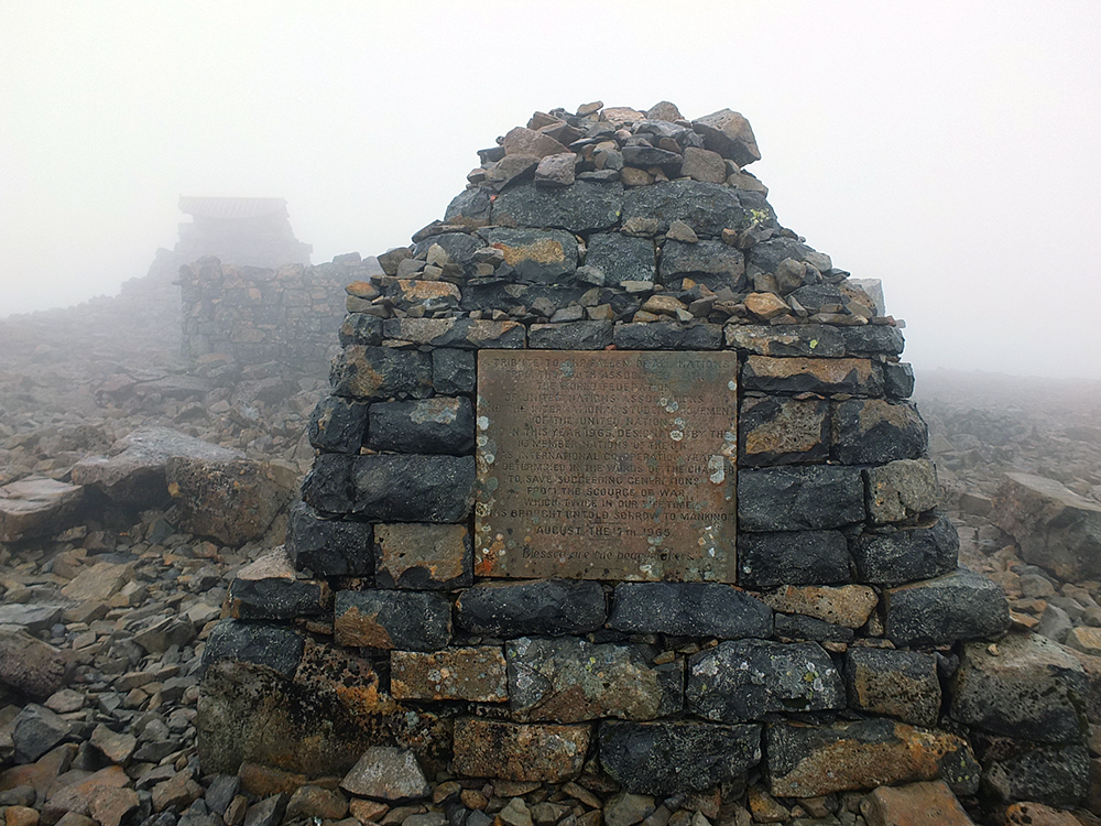 Summit of Ben Nevis in Fog