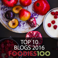 Top 10 FOODIES100 BLOGS 2016