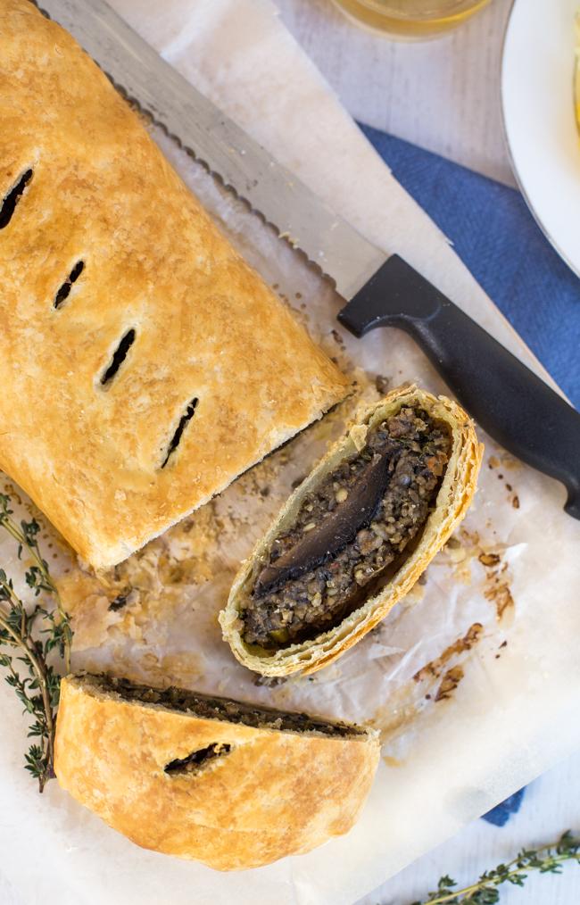 Vegetarian Haggis and Mushroom Wellington by Amuse Your Bouche