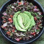 Black Beluga Lentil Salad by Allotment 2 Kitchen