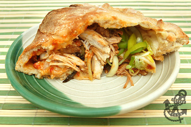 Leftover Turkey and Leek Calzone by Coffee & Vanilla