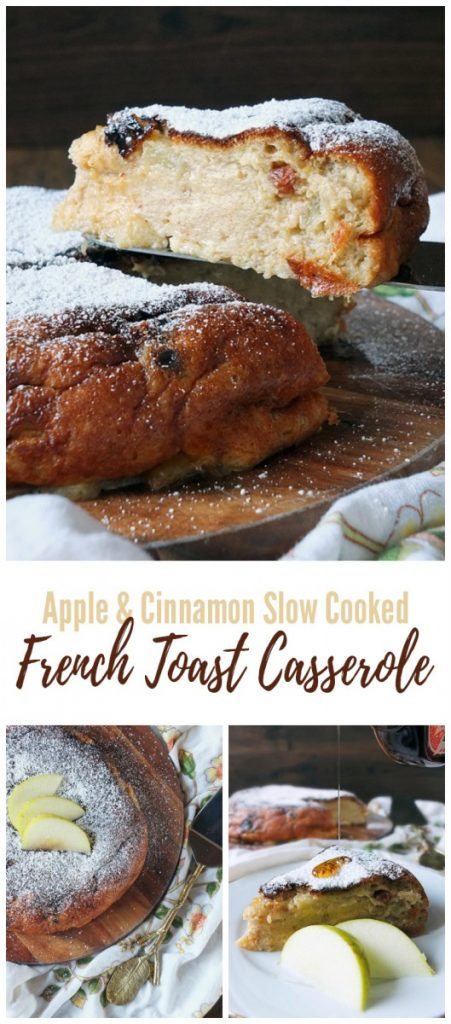 Apple & Cinnamon Slow Cooked French Toast Casserole