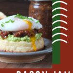 Pinterest pin for bacon jam.