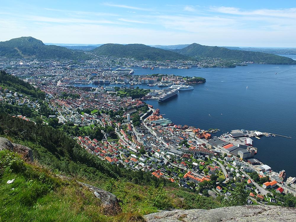 Bergen from Stoltzekleiven
