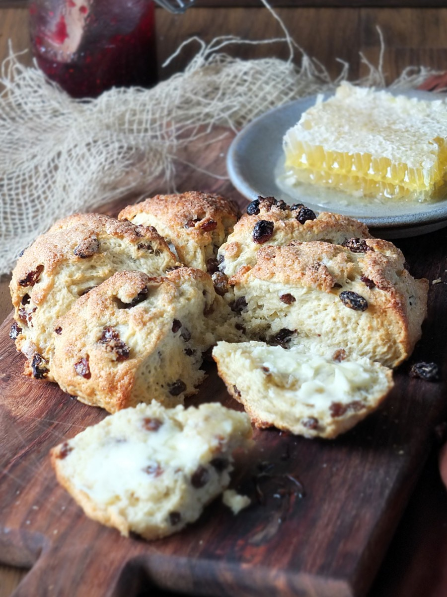 Cape Breton Fruit Scones - serve warm with butter and honey/jam
