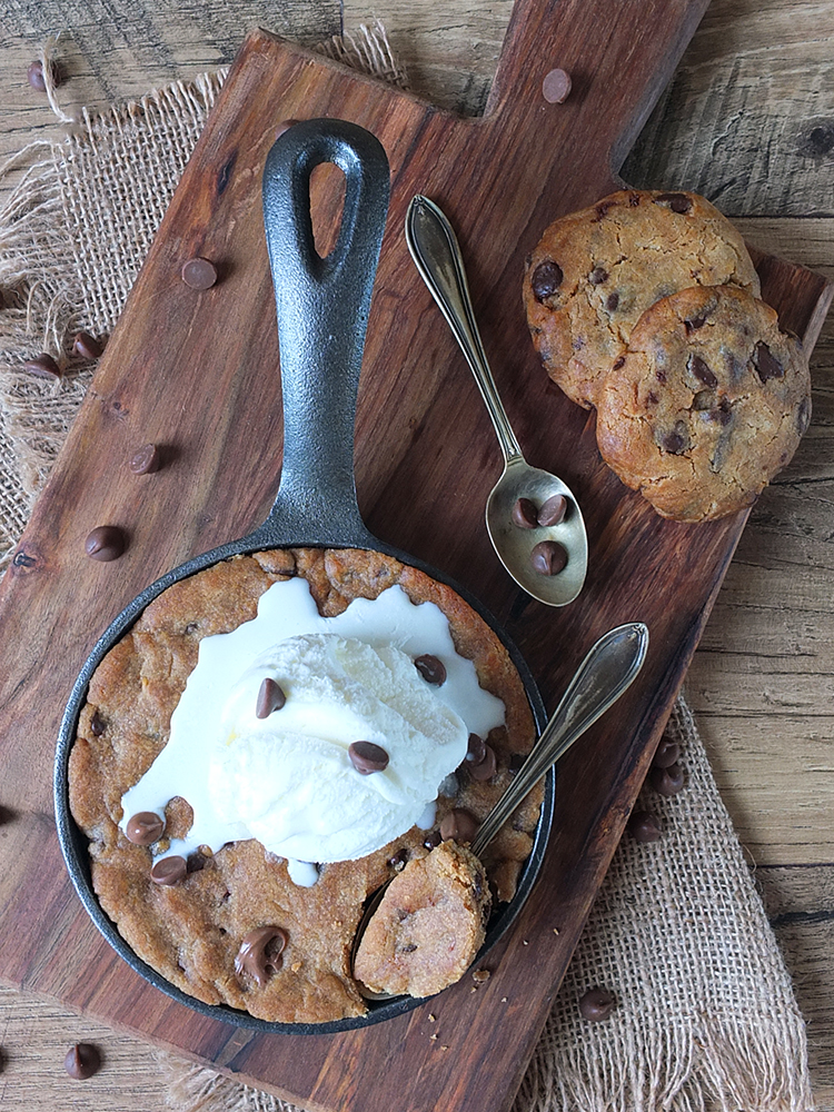 Chocolate Chip Skillet Cookie for Two