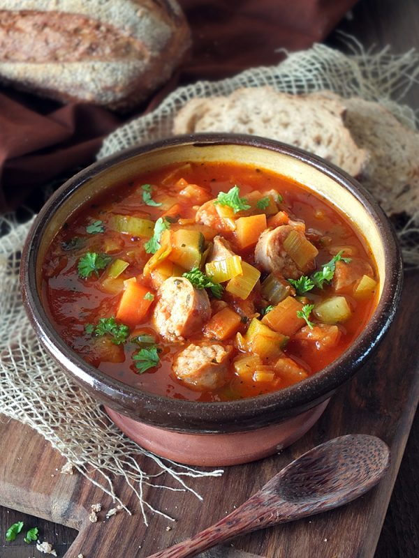 Chunky Vegetable and Sausage Soup