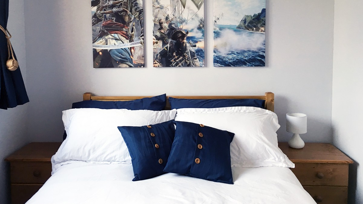 Emma Mattress Review >> Nautical Bedroom Makeover with Emma Mattress - Elizabeth's Kitchen Diary