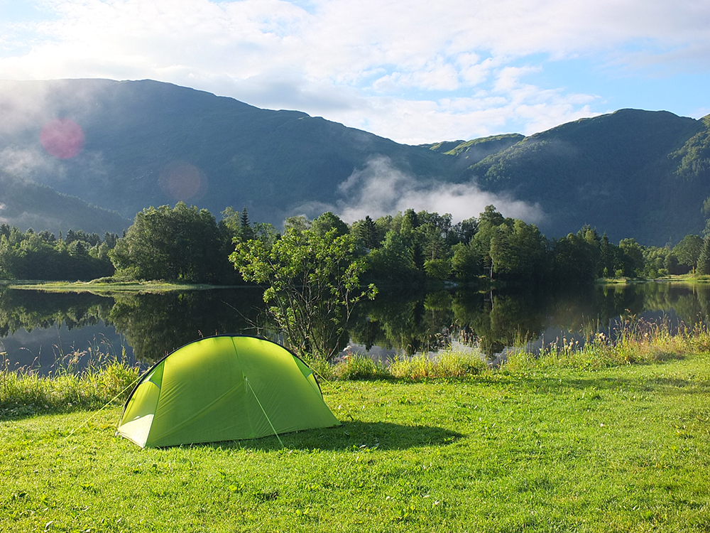 Lone Camping Bergen - solo camping in Norway on a budget