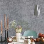 NIMBUS PEWTER PLAIN GLITTER WALLPAPER