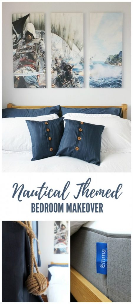 Nautical Themed Bedroom Makeover