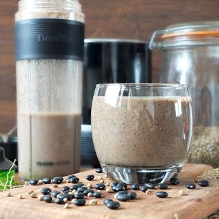 Black Bean & Hemp Brownie Protein Shake