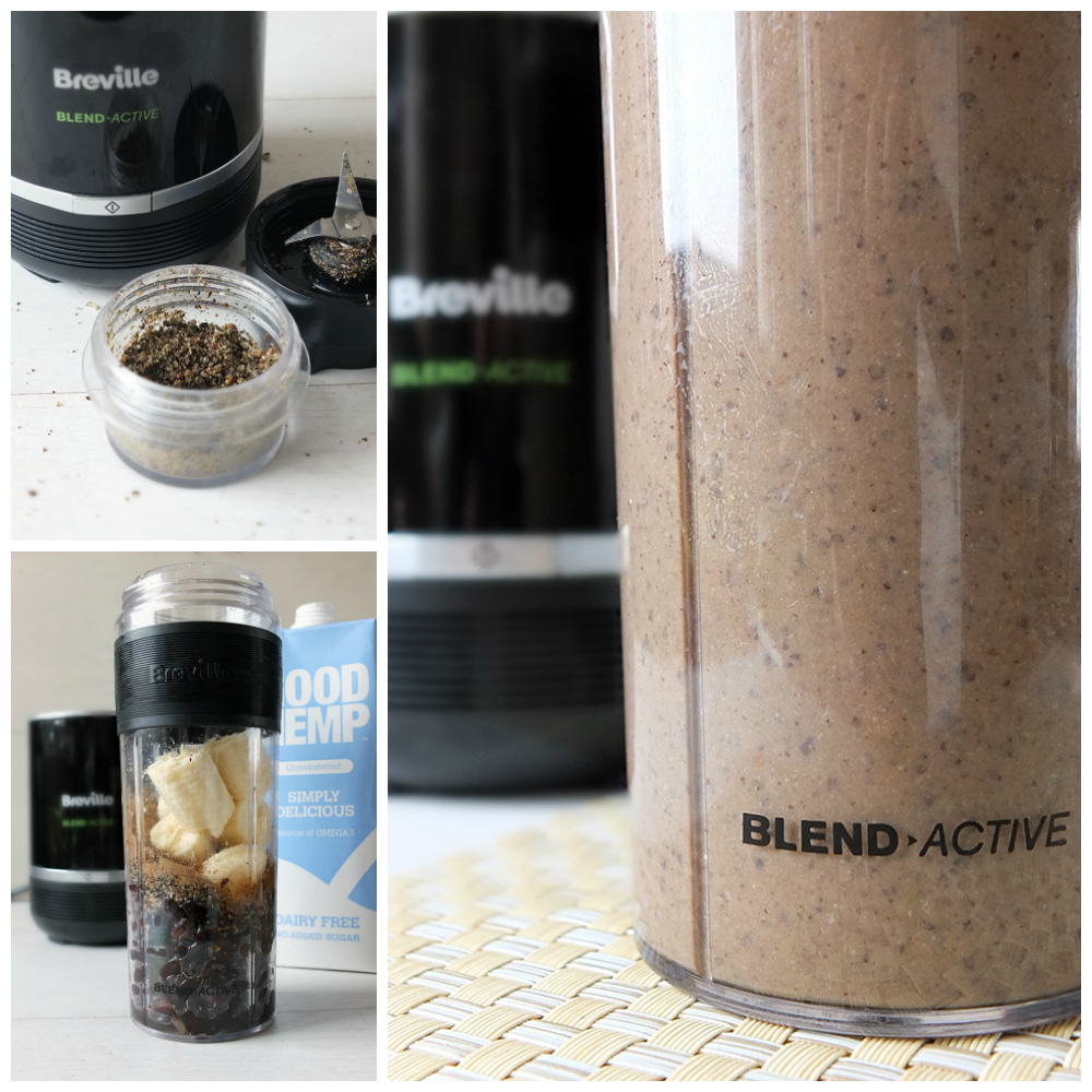 Black Bean Hemp Brownie Protein Shake