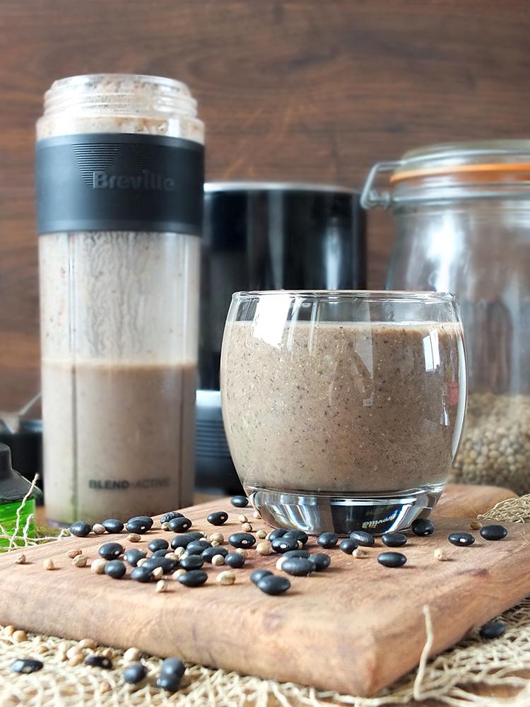 Black Bean & Hemp Brownie Protein Shake