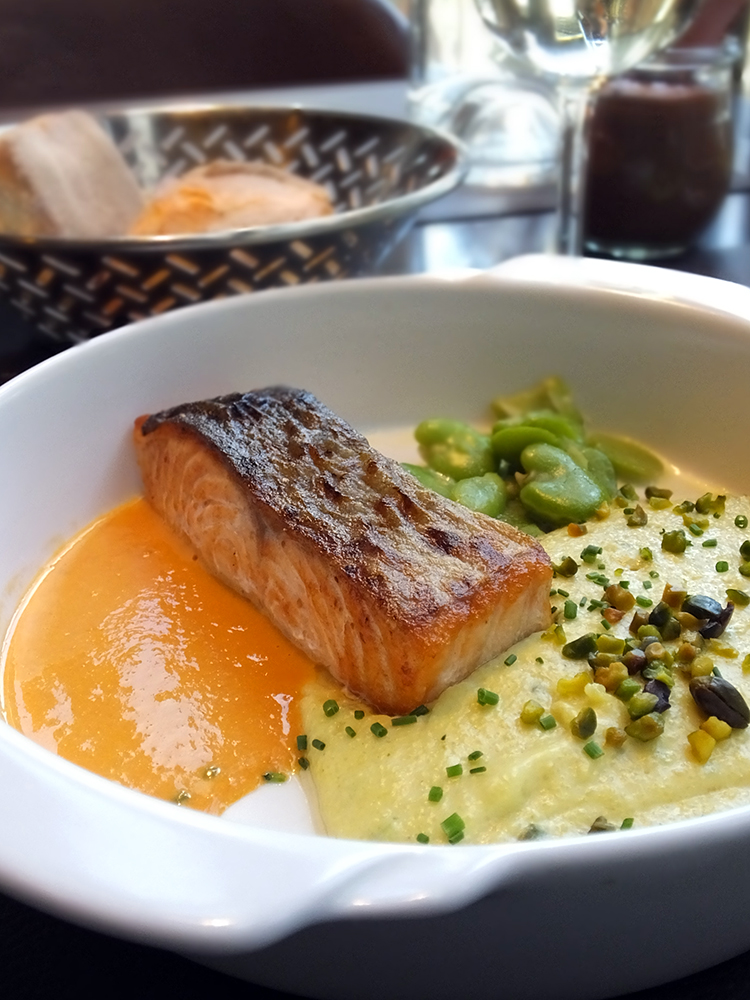 French Salmon Dish