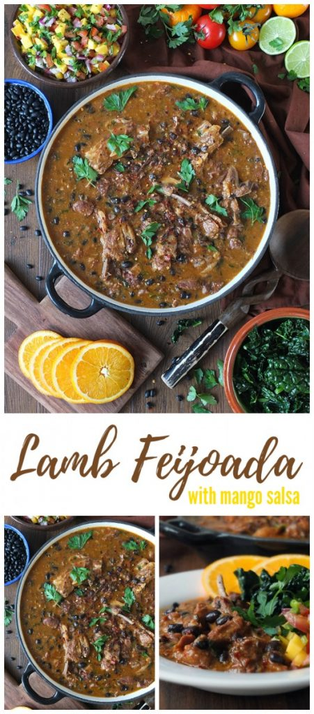 Brazilian-inspired Lamb feijoada with mango salsa