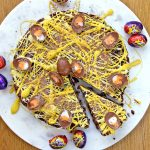 No-bake Creme Egg Biscuit Cake