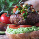 Chilean-Inspired Paprika-Spiked Lamb Burgers with Pebre (Chilli Salsa) & Marraqueta Buns