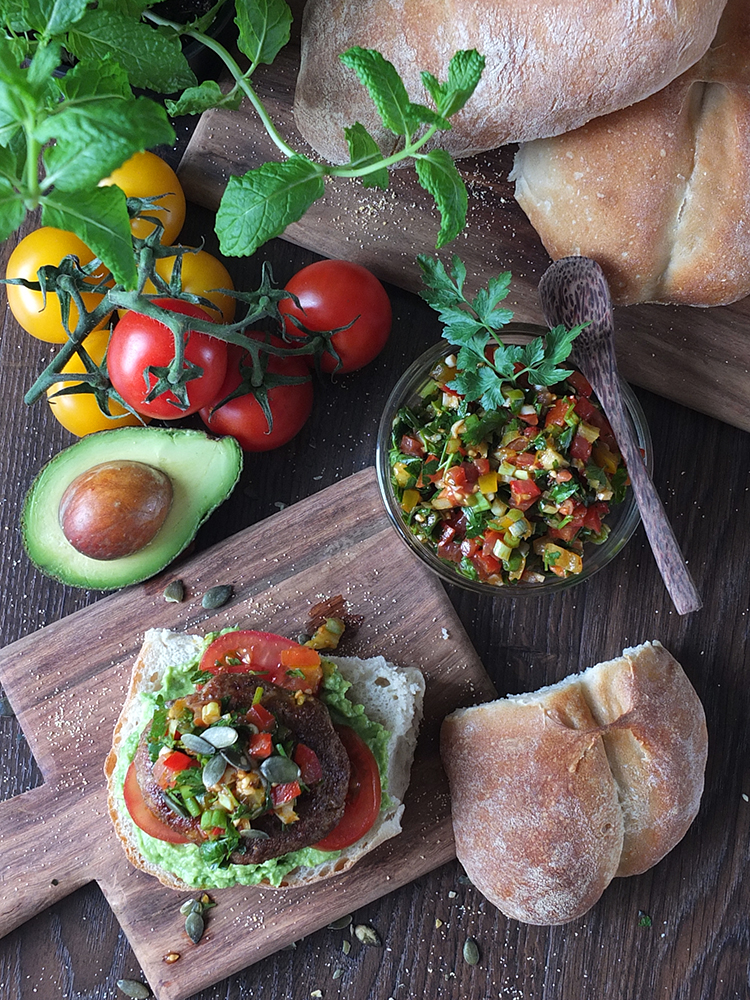 Chilean-Inspired Lamb Burger with Pebre Chilean Chilli Salsa and Marraqueta Bread Rolls