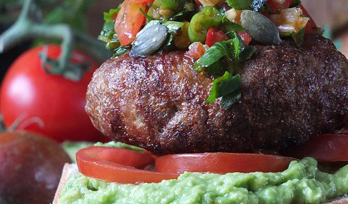 Chilean-Inspired Lamb Burgers with Pebre (Chilli Salsa) & Marraqueta Buns