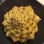whole roast romanesco with za'atar