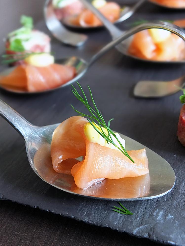 Eat on the Green Salmon Amuse Bouche