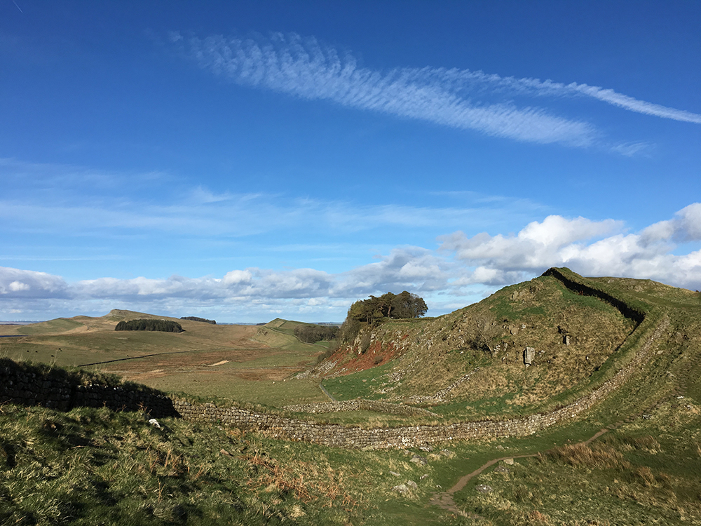 Walking Hadrian's Wall - Crags
