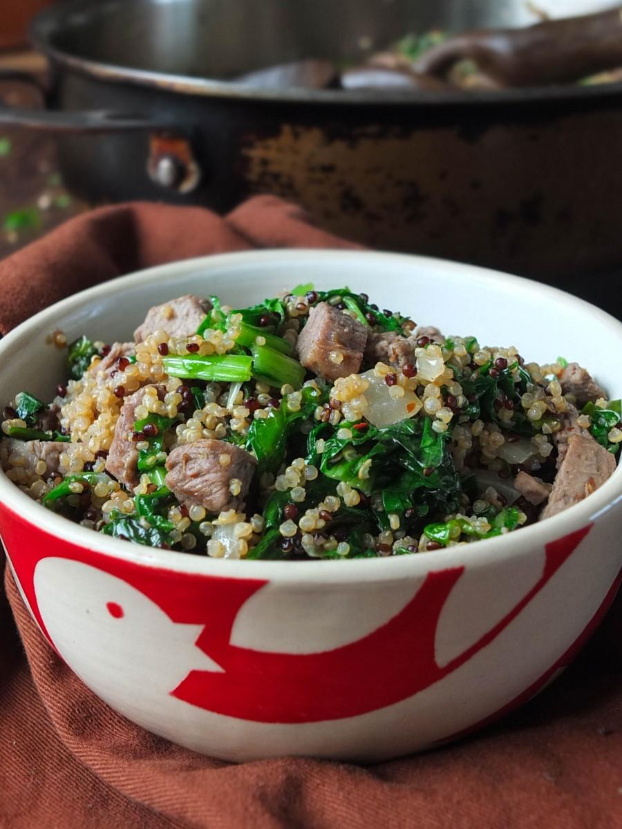 15-Minute Lamb & Quinoa One-Pan Midweek Supper