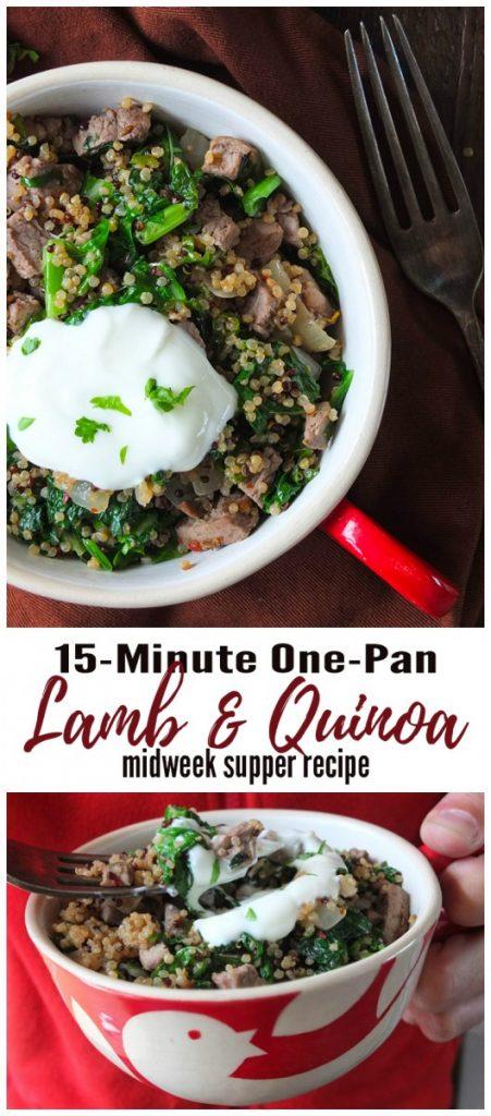 15-Minute One-Pan Lamb & Quinoa Midweek Supper