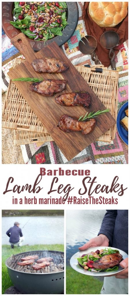 BBQ Lamb Leg Steaks in a Herb Marinade #RaiseTheSteaks