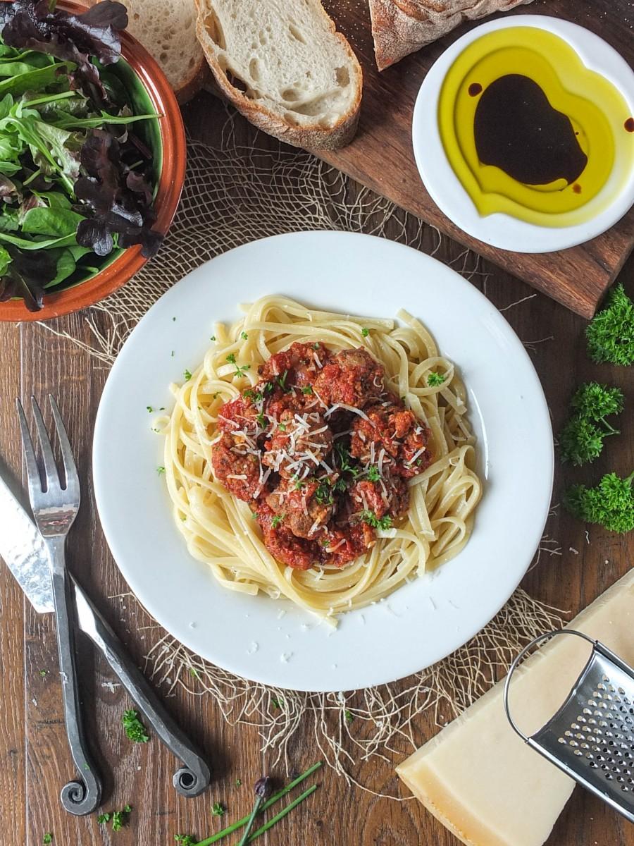 Italian-Style Meatballs in a Rich Tomato Sauce