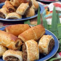 Leftover Roast Lamb & Mint Sausage Rolls